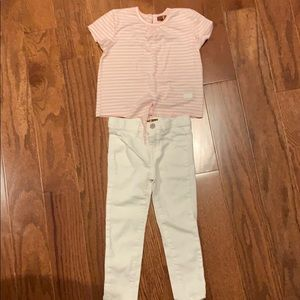 7 for all mankind Girls shirt and pant set